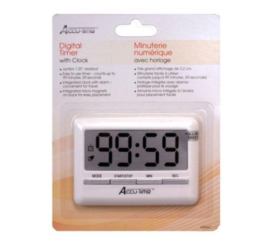 Accu-Time Digital Timer with Clock