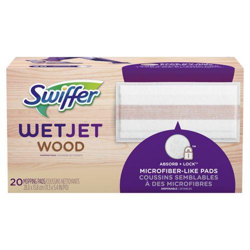 Tampon de nettoyage Swiffer Wet Jet Wood pour le bois, 20 chiffons