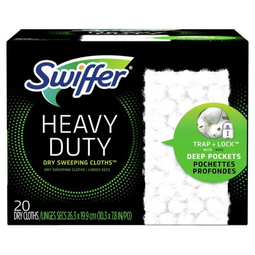 Swiffer Sweeper Dry Heavy Duty Sweeping Cloth, Unscented, 20-ct