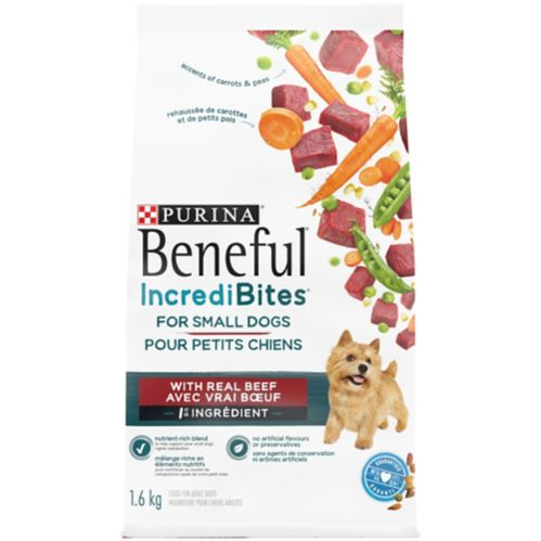 Purina Beneful IncrediBites® Grilled Sirloin Steak Flavour Dry Dog Food for Small Dogs, 1.6-kg