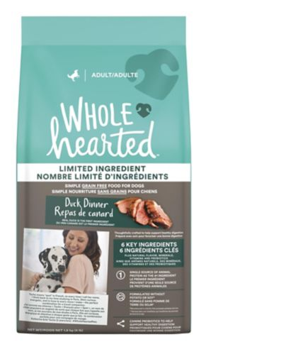 WholeHearted Grain Free Limited Ingredient Duck Recipe Adult Dry Dog Food, 1.81-kg
