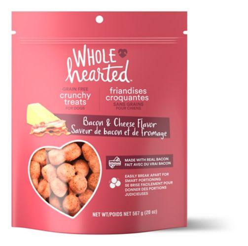 Friandises croquantes pour chiens WholeHearted sans grains, saveur de bacon et de fromage, 20 oz