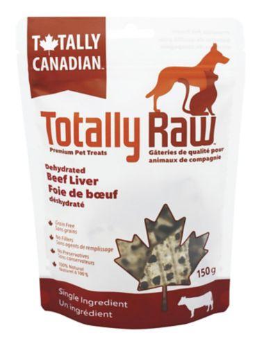 Foie de bœuf déshydraté pour animaux Totally Raw, 150 g