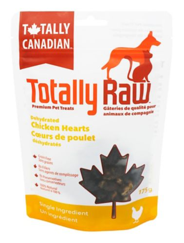 Totally Raw Dehydrated Dehydrated Chicken Hearts Pet Treats, 175-g