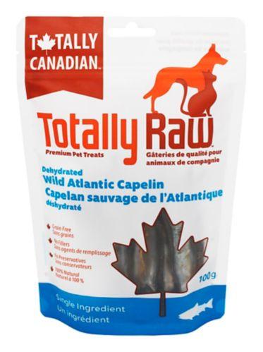 Capelan sauvage de l'Atlantique déshydraté pour animaux Totally Raw
