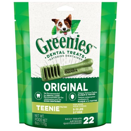 Gâteries dentaires pour chiens GREENIES Teenie, 6 oz