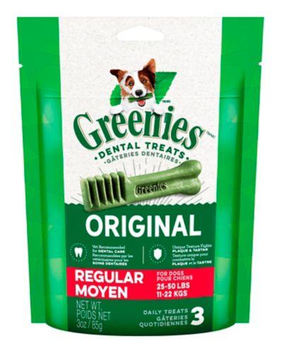 Gâteries dentaires pour chiens GREENIES Moyen, 3 oz