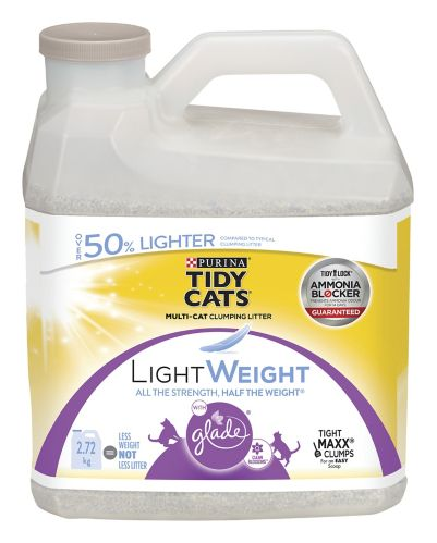 Purina® Tidy Cats® Lightweight Clumping Cat Litter with Glade® Clean Blossoms™, 2.72-kg