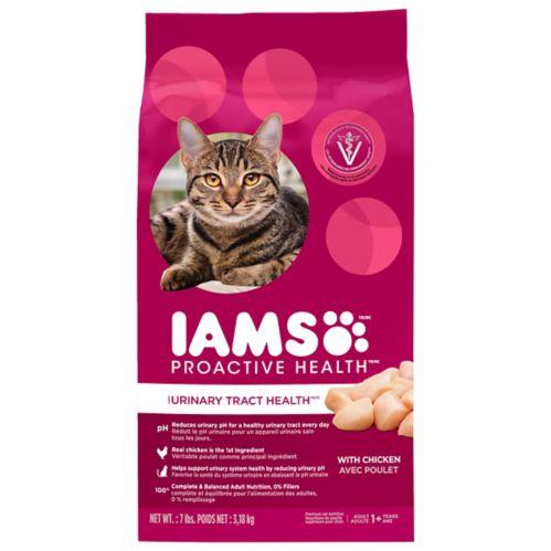 Nourriture sèche pour chats adultes IAMS PROACTIVE HEALTH Santé des voies urinaires, poulet, 7 lb
