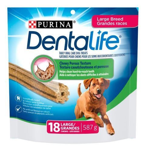 DentaLife Large Breed Daily Oral Care Dog Treats, 587-g