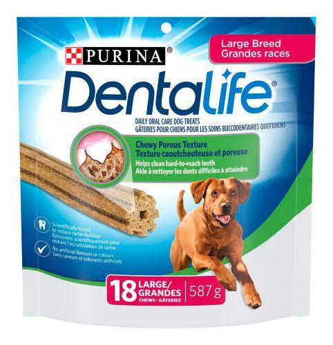 Gâteries de soins buccodentaires quotidiens DentaLife pour chiens de grande race, 587 g