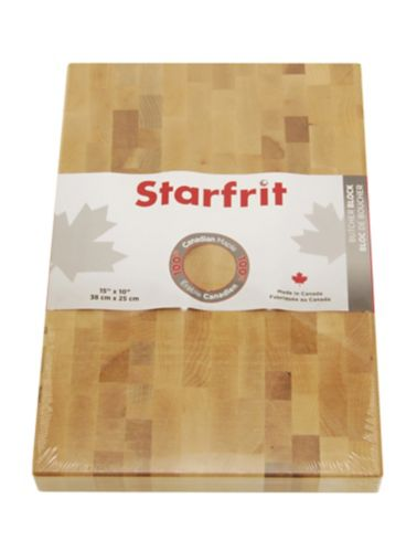 Starfrit Maple Butcher Block, 15 x 10-in