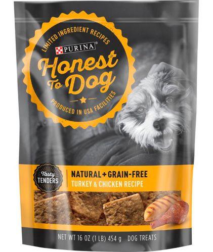 Purina® Honest to Dog® Grain-Free Dog Treats, Chicken & Turkey, 454-g