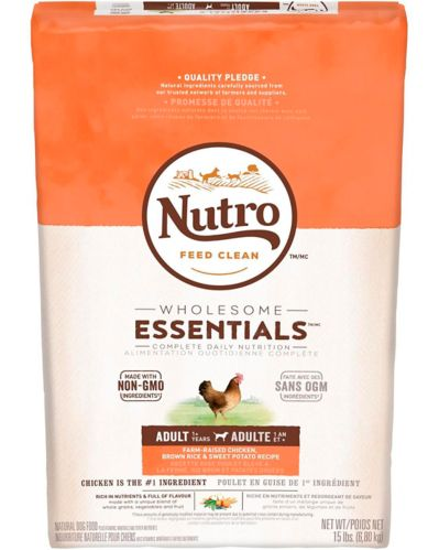 Nutro Wholesome Essentials™ Adult Dry Dog Food, Chicken, Rice & Sweet Potato, 15-lb
