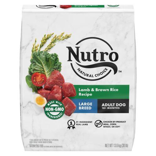 Nourriture sèche pour chiens adultes de grandes races Nutro Wholesome Essentials, agneau et riz, 30 lb