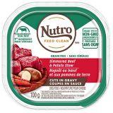 Nutro Grain-Free Cuts In Gravy Beef & Potato Stew Adult Wet Dog Food, 100-g