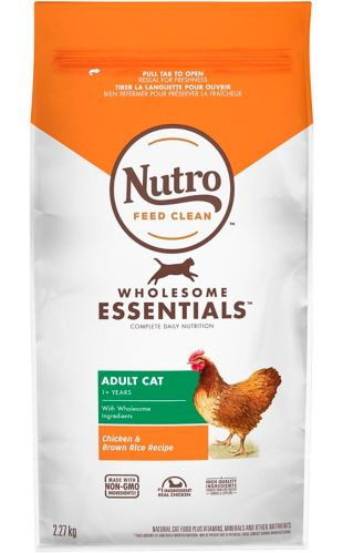 Nutro Wholesome Essentials™ Adult Dry Cat Food, Chicken & Brown Rice, 5-lb