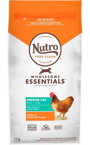 Nutro Wholesome Essentials™ Indoor Adult Dry Cat Food, Chicken & Brown Rice, 5-lb