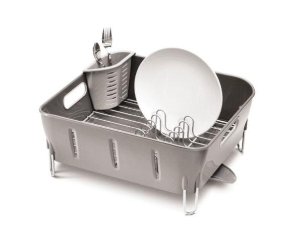 Égouttoir à vaisselle compact simplehuman, gris
