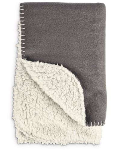 Petco Cozy Fleece Throw, Dark Grey