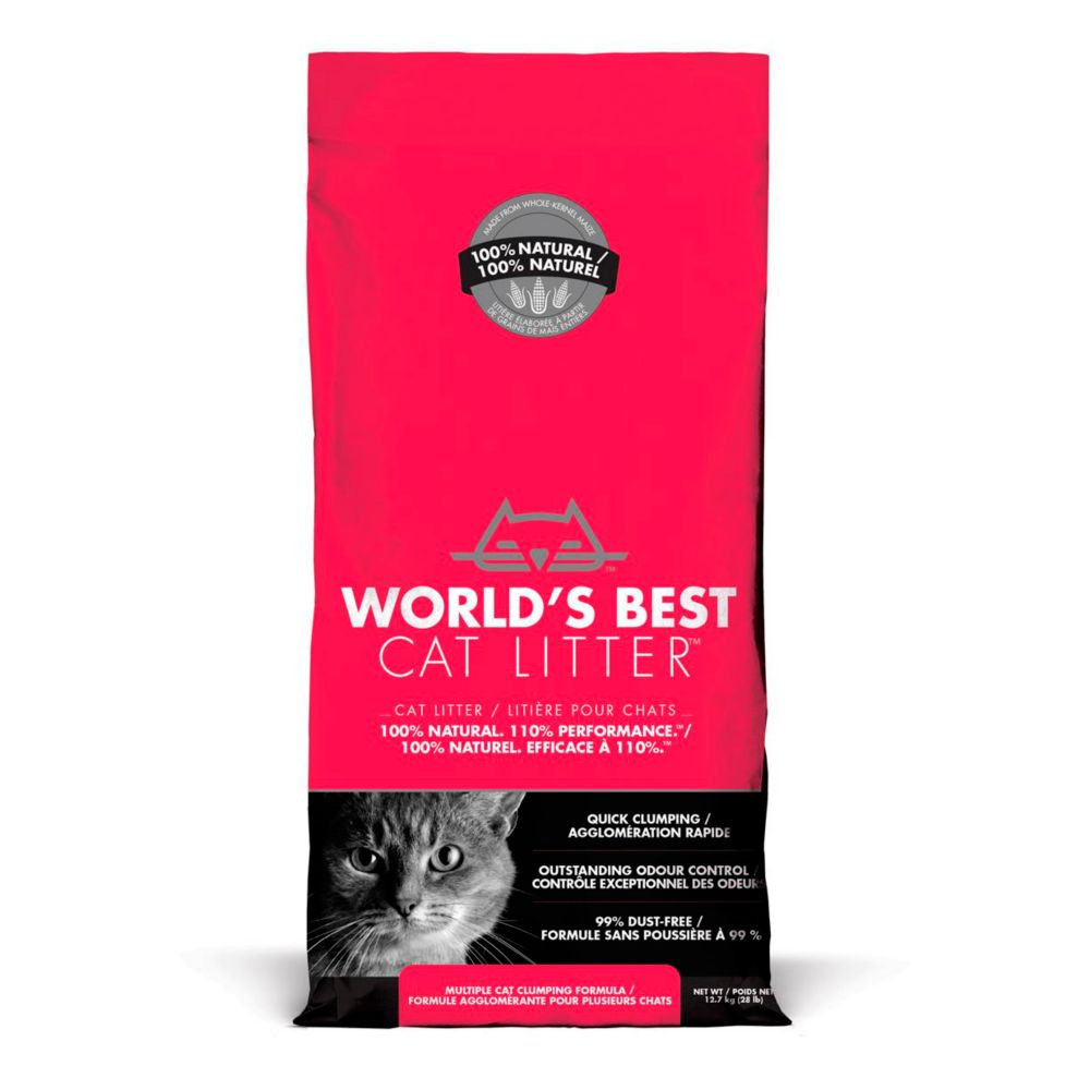 World's Best Multi-Cat Clumping Cat Litter, 28-lb