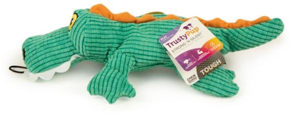 TrustyPup Silent Squeak Gator Dog Toy