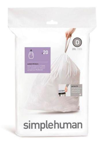 Sacs à ordures sur mesure Simplehuman Code C, paq. 20