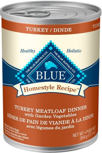 Blue Buffalo BLUE Homestyle Recipe Turkey Meatloaf with Vegetables Dog Food