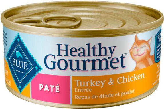 Pâté gourmet santé pour chat adulte Blue Buffalo, poulet et dinde