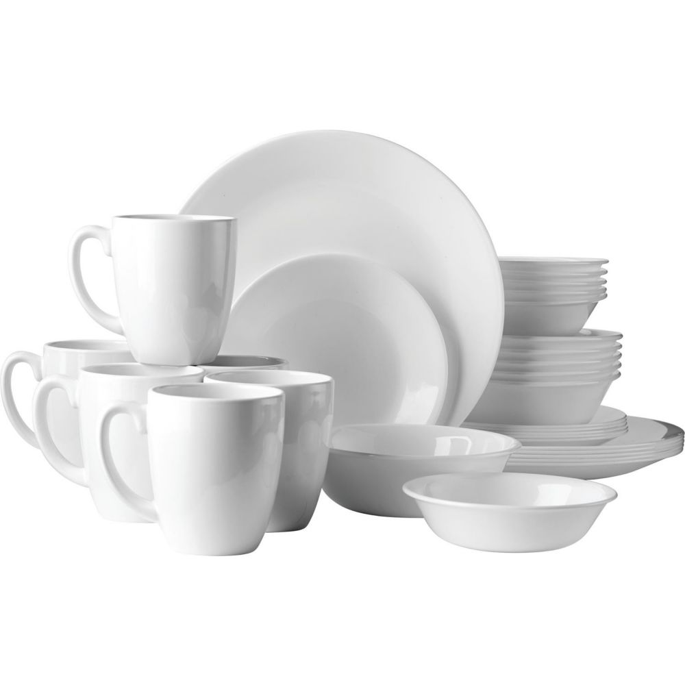 Corelle Winter Frost White Dining Set, 30-pc
