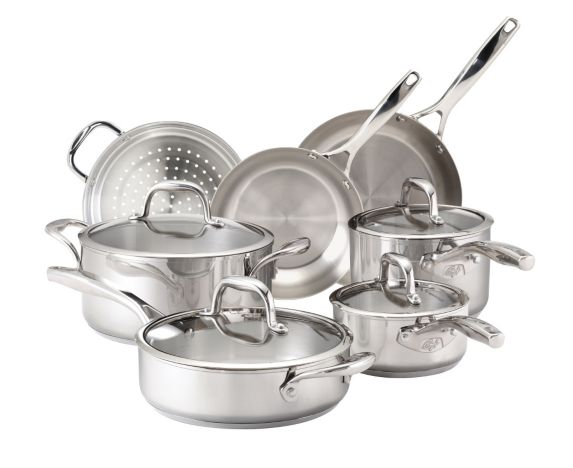 Guy Fieri Stainless Steel Cookware Set, 11-pc