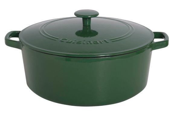 Cocotte en fonte Cuisinart ronde, vert, 7 pintes
