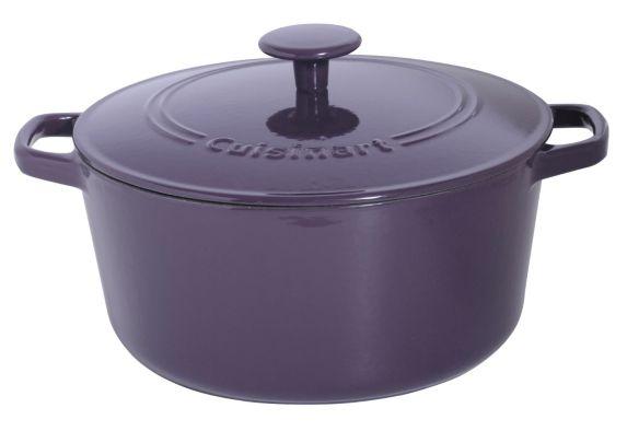 Cocotte en fonte Cuisinart ronde, violet, 5 pintes