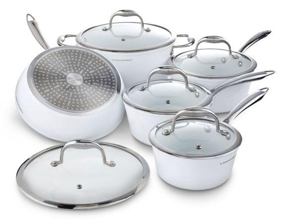 Lagostina Bianco Ceramic Forged Cookware Set, 10-pc Product image