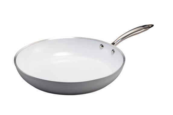 Lagostina Bianco White Ceramic Frying Pan, 10-in