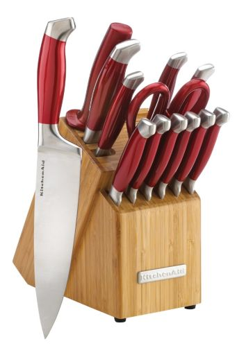 Kitchenaid Candy Apple Red Knife Set 14 Pc Canadian Tire
