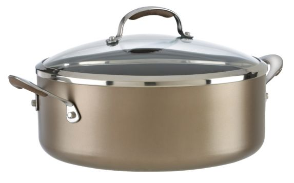 KitchenAid Hard Anodized Covered Sauté Pan, 7.5-qt
