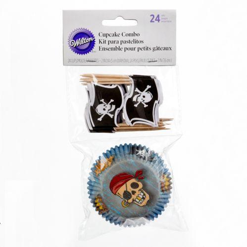 Wilton Pirates Cupcake Baking Cups Combo, 48-pc