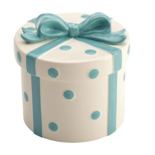Cake Boss White & Blue Ribbon Cookie Jar