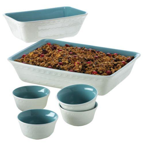 Cake Boss Ceramic Bakeware Set, 6-pc