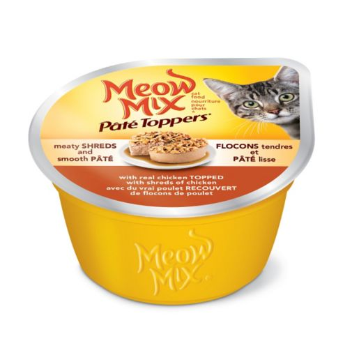 Meow Mix Pate Toppers® Real Chicken Topped with Shredded Chicken