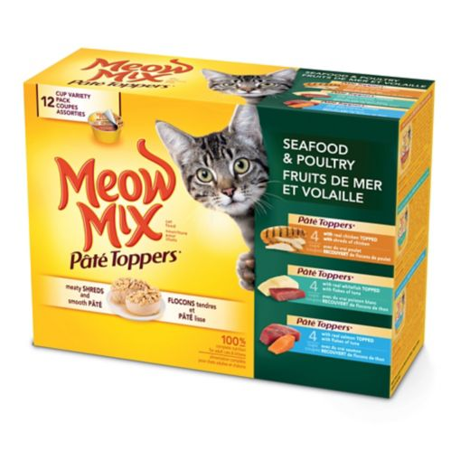 Meow Mix Pate Toppers, 12 Pack