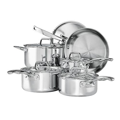 Henckels Elite Classic Clad Cookware Set, 10-pc