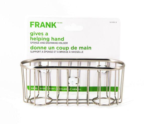 FRANK Chrome Sponge Caddy
