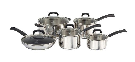 Henckels Stainless Steel Cookware Set, 10-pc