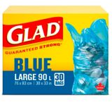 Glad Blue Recycling Bags - Large 90 Litres | GLADnull