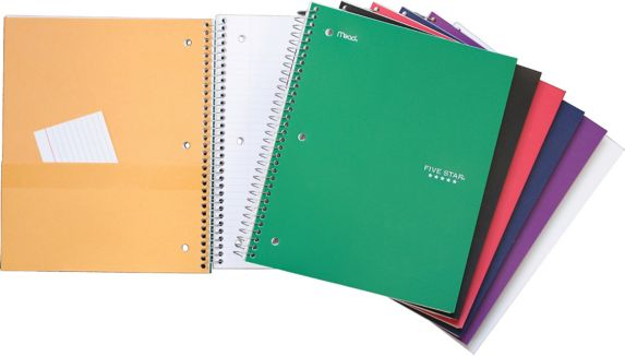Five Star 5 Subject Notebook, 400-pages
