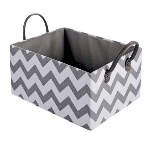 CANVAS Finn Basket, Grey Chevron Product image
