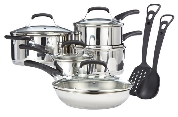 Heritage Stainless Steel Cookware Set, 12-pc