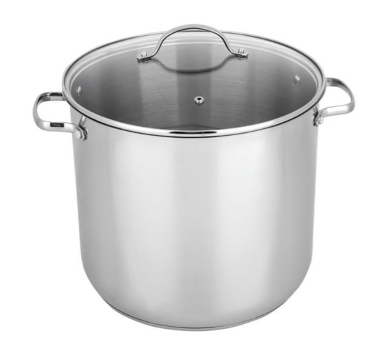 MASTER Chef Stainless Steel Stock Pot, 16-qt